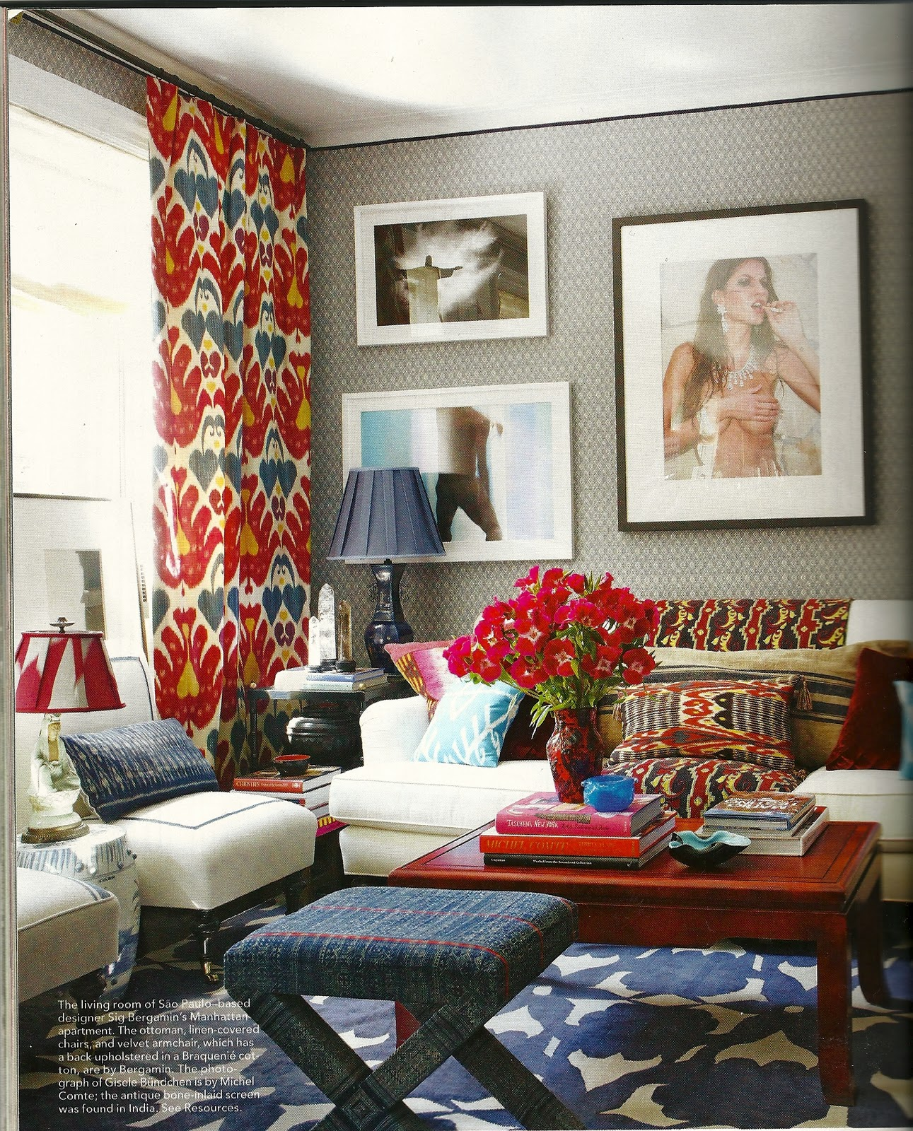 Chic Colorful Living Room: Decorator.